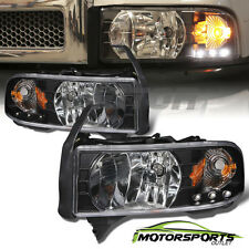 1994-2001 Dodge RAM 1500 2500 3500 Pickup LED Headlights+Corner Signal Light Set
