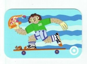 Target Gift Card - Sloth with Pizza on Skateboard - Slow Jams - 2021 - No Value
