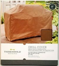 """Threshold 68"""" Water Resistant Bbq Grill Cover with Tie Straps - New In Box"""