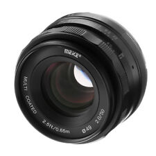 Meike 50mm F2 Large Aperture Manual Focus MF Lens for Fujifilm F FX Xt1 Xt10 Xa2
