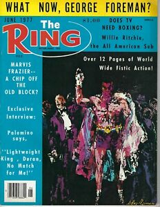 1977 JUNE The Ring boxing magazine What Now George Foreman GOOD