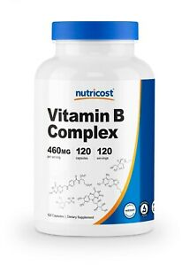 Nutricost Vitamin B Complex 460mg, 120 Capsules With Vitamin C - High Potency