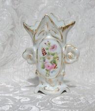 Antico vaso porcellana Francia c1870 Pittura a mano policroma i