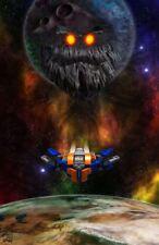 "Original LEGO Art Marvel Guardians of the Galaxy Milano Spaceship 11""x17"" Poster"