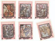 KAMPUCHER - Bustina 6 francobolli serie ARTE