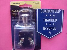 PUSH PULL SWITCH CHROME ON/OFF 15 AMP 12 VOLT 7/16 HOLE SIZE LIGHT POWER BATTERY