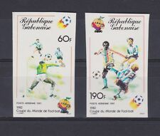 s5668) GABON 1982 MNH** WC Football'82- CM Calcio 2v IMPERF