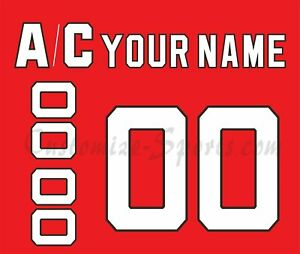 New Jersey Devils Customized Number Kit for 1992-2014 Red Jersey