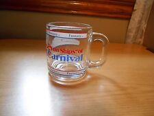 "Fantasy The ""Fun Ships''of Carnival Glass Mug w/ Handle"