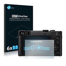 6x Displayschutzfolie Panasonic Lumix DMC-TZ81 Schutzfolie Klar Folie
