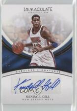 2016-17 Panini Immaculate Heralded Signatures /99 Kendall Gill #HS-KGI Auto