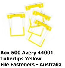 Avery 44001 Yellow Tubeclip Plastic Fastener  complete 3 Piece Sets  Box of 500
