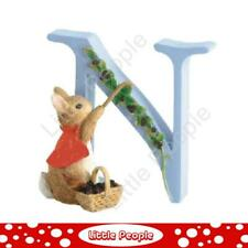 """Peter Rabbit Letters - Letter """"N"""" with Cotton Tail"""