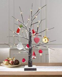 60CM Easter Birch Tree LED Light Up Christmas Twig Tree Hanging Eggs Decor UK