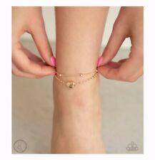 Gold Anklet #2207 Paparazzi Ocean Heart Rose