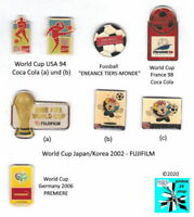 Fifa World Cup Fussball/Fußball Sport Sponsoren Weltmeist Pin/s badges AUSSUCHEN