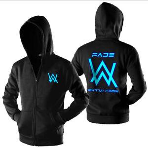 New Black XL Alan Walker Fade Coat Hoodie Luminous Sweatershirt Jacket