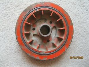 "OEM 3817173 Corvette Chevy SB HP Factory 8.0"" Balancer, 1962-63 327 B64 FINNED *"