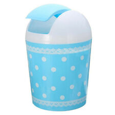 Plastic Mini Trash Basket Garbage Can Bin Desktop Wastebasket Workshop Exqu G3r9 Blue