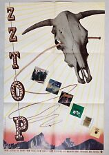 ZZ TOP The Best Of 1977 US PROMO POSTER Frank BEARD Dusty HILL Billy GIBBONS VG+