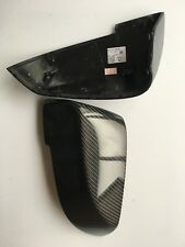 F01 F02 F03 Carbon Fiber Side Mirror Cover OVERLAYS FOR 13-15 750i 740i