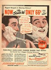 1949 Vintage ad for EVERSHARP-SCHLICK injector razor`Man/mirror (022114)