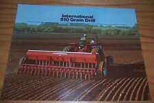 1973 INTERNATIONAL 510 GRAIN DRILL farm literature