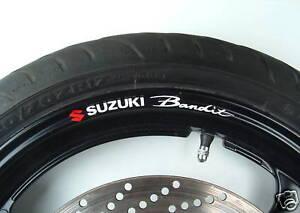 Suzuki Bandit Wheel rim stickers decals 600 750 1000