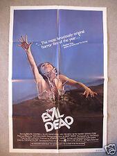 The Evil Dead * Original Movie Poster 1Sh Bruce Campbell Sam Raimi Halloween Nm+