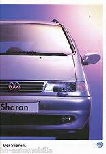 VW Sharan Prospekt 9 96 brochure 1996 Auto PKWs Autoprospekt Deutschland Europa