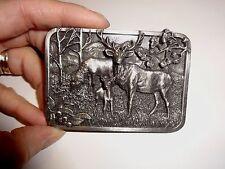1982 Siskiyou Buckle Co Elk  / Wapiti Men's Belt Buckle #L10