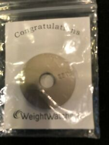 Weight Watchers 25 Pounds LBS Round Charm Washer New in Package