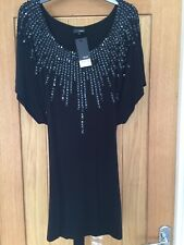Next Women's Black Sequin Top - Ladies Size 12 BNWT £32