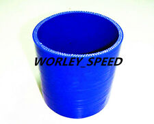 BLUE 2.5'' 63mm ID Silicone Straight Joiner Coupling Hose Pipe LH 3'' 76MM