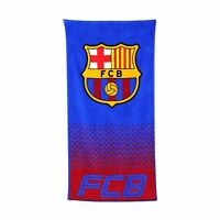 NEW BARCELONA F.C. FOOTBALL CLUB BEACH BATH TOWEL BOYS KIDS FANS HOLIDAY GIFT