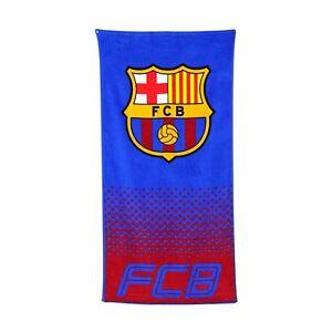 NEW BARCELONA F.C. FOOTBALL CLUB BEACH BATH TOWEL BOYS KID FANS HOLIDAY GIFT