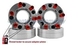 "4 Pc 5x5 to 6x5.5 Wheel Spacer 2"" Thick Conversion w/ Red 7 Spline Lug Nuts"