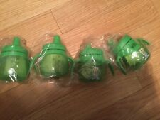 Lot of 4 Adiri 6.8oz toddler green penguin  sippy cups new  $40.00 Retail