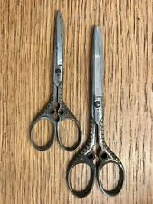 Vintage Lot Of 2 Antique Sewing Embroidery Scissors Germany H Boker & Co.