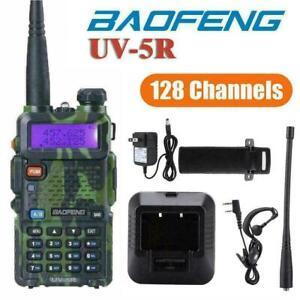 Baofeng UV-5R 128CH Walkie Talkie UHF VHF Two Way Ham Radio  Dual Band FM VOX