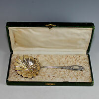 Antique French Sterling and Vermeil Server with Box