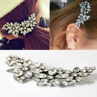 Women Flower Crystal Rhinestone Headband Bridal Wedding Hair Clip Comb Pin Gift