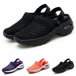 35-42 Womens Summer Breathable Closed Toe Slip On Sandals Shoes Walking Sports L