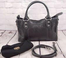 FRYE Distressed Leather Melissa Satchel - Carbon Dark Gray - Tote Bag