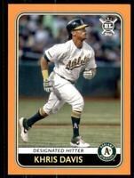 2020 Big League Base Orange #206 Khris Davis - Oakland Athletics