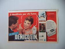 advertising Pubblicità 1961 DENTIFRICIO DURBANS DURBAN'S DENICOTIN