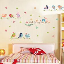 Cartoon Fresh Birds Room Home Decor Removable Wall Sticker Decal Decoration