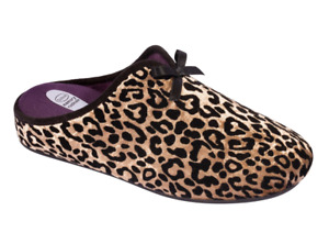 New Scholl Rachele Mule Slippers in Animal Print Gold UK4 EU37 RRP £47