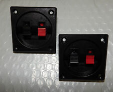 Audio Speaker Terminal LOT OF 2 !! Double Input Jack Square Box Plate Connector