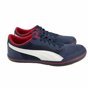 Puma Men's Shoes Lace Up Sneakers Blue/Red Size 11.5